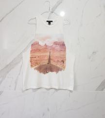 Forever21 print majica side cut