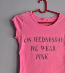 Roze majica kratkih rukava