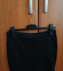 Crna kratka uska suknjica