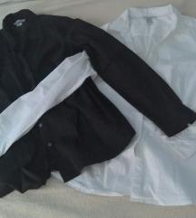 2 košulje za 600,oo dinara (crna i bela)