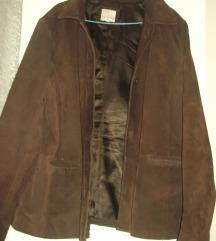 Braon jakna jelenska koža