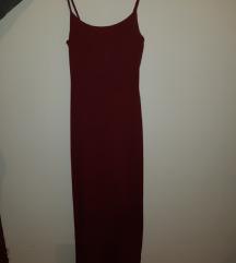 Bordo duga haljina