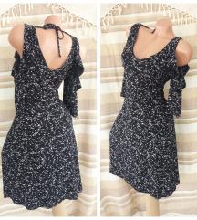 NEXT ♠ romantična crna haljina golih ramena