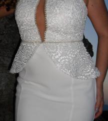 Vencanica, bela elegantna haljina