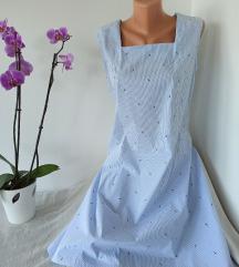 Plava haljina sa lastama vel L
