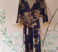 Kimono haljina sa perjem