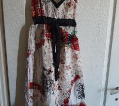 Dizajnerska s/m haljina rucno vezena