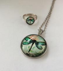 Komplet ogrlica i prsten s vilinim konjicem