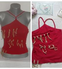 Crvena majica providna sa resama