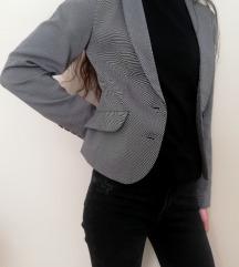 Sivi, poslovni, strukirani sako