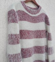 Čupavi džemper duži