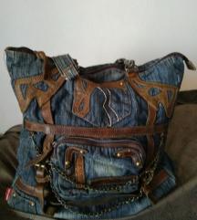 TOSCANINO velika teksas torba sa koznim detaljima