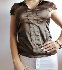 Braon svilena majica S, M