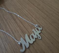 Srebrna ogrlica sa imenom MAJA