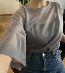 Srebrna providna majica