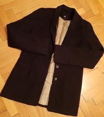 H&M crni sako blejzer S.