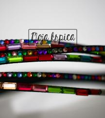 Višeslojna kristal šarena narukvica /ogrlica