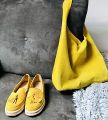 Kožne žute espadrile