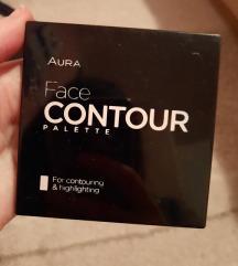 aura face contour palette dark