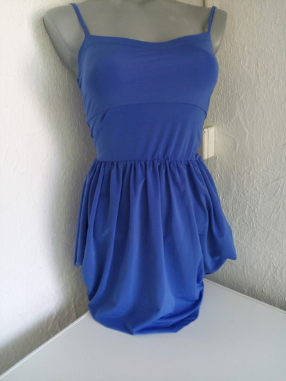 Ginatrikot kraljevsko plava haljina XS