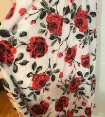 Duga cvetna haljina