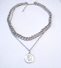 Dupla ogrlica Kajla novčić
