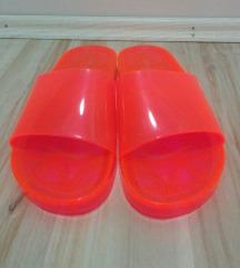 New Look NEON roza/narandžaste papuče