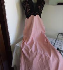 Nova Fervente roze sirena sa crnom cipkom 40