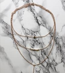 Troslojna bohemian ogrlica