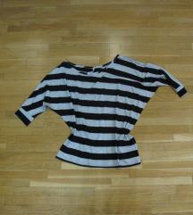 711. Majica sa šišmiš rukavima, asimetricna, pruge