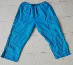 Tirkizne kapri pantalone