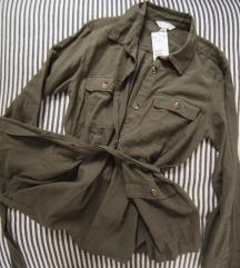 Green khaki HM kosulja, vel. S