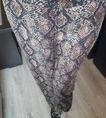 Zara- pantalone snake print sa etiketom sada 1990