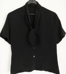 Vintage  svilena bluza sa sal ovratnikom br. 42-L