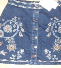 stradivarius teksas suknja