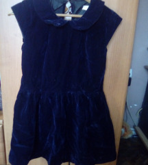 plisana haljinica sa kragnicom