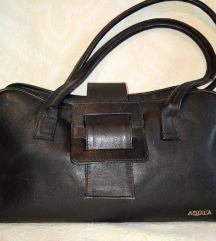 Aquila kozna crna torba
