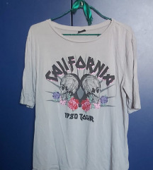 svetlo siva california majica