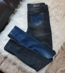 REZ Dvobojne farmerke - teksas i tamno sive L/XL