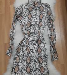 Animal print rolka haljina