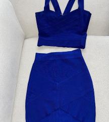 Harve Leger komplet royal blue