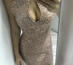 Diline haljina u gold rose boji Vel S