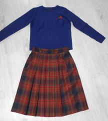 Predivan vuneni komplet suknja i bluza