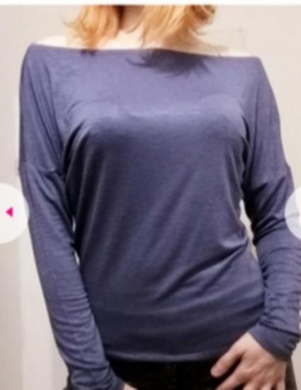 Nova majica bluza plavo ljubicasta off shoulders