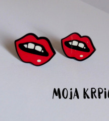 Slatke cartoon pop art akrilne mindjusice usne