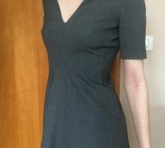 Siva Strukirana Haljina Zara