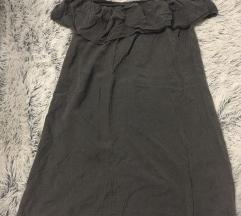 Siva haljinica sa spustenim ramenima