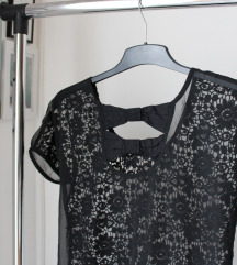 Čipkana majica sa mašnicama Tally Weijl