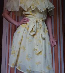 Moderna žuta haljina