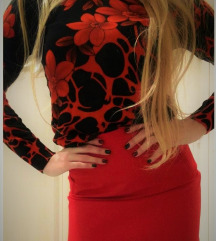 H&M crvena suknjica, elasticna, NOVO sa etiketom